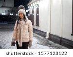 Stylish Girl Posing At Street...