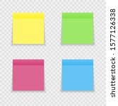 set of color sheets of note...   Shutterstock .eps vector #1577126338