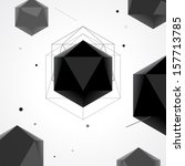 polygon abstract geometrical... | Shutterstock .eps vector #157713785