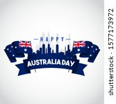 happy australia day vector... | Shutterstock .eps vector #1577173972