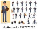 Set Of Postman Character Vector ...
