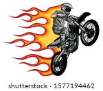 motocross rider ride the...   Shutterstock .eps vector #1577194462