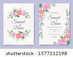 beautiful wedding invitation... | Shutterstock .eps vector #1577212198