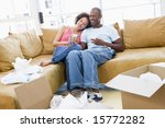 couple relaxing with coffee by... | Shutterstock . vector #15772282