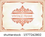 decorative frame with beautiful ... | Shutterstock .eps vector #1577262802