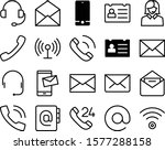 contact vector icon set such as ... | Shutterstock .eps vector #1577288158