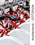 bicycle parking modern... | Shutterstock . vector #157729106
