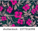 indonesian batik motifs with... | Shutterstock .eps vector #1577316598