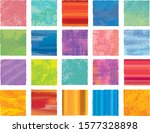 watercolor squares isolated  ... | Shutterstock .eps vector #1577328898