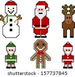 vector pixel christmas... | Shutterstock .eps vector #157737845