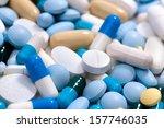 Heap Of Medicine Pills. ...