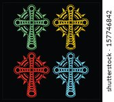 set of four crosses. vector | Shutterstock .eps vector #157746842