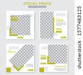 set modern square editable... | Shutterstock .eps vector #1577483125