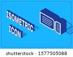 isometric ticket icon isolated... | Shutterstock .eps vector #1577505088