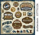vector sale labels set  badges... | Shutterstock .eps vector #157751126