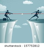 abstract businessmen tug of war ... | Shutterstock .eps vector #157752812