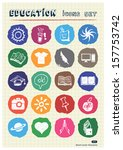 school and education web icons... | Shutterstock .eps vector #157753742