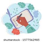 cartoon vector illustration of... | Shutterstock .eps vector #1577562985