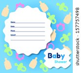 stylish baby shower invitation... | Shutterstock .eps vector #157757498