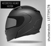 motorcycle helmet | Shutterstock .eps vector #157759178