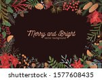 merry and bright christmas... | Shutterstock .eps vector #1577608435