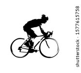 cyclist. road cycling ink... | Shutterstock .eps vector #1577615758
