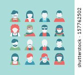 avatar icon set | Shutterstock .eps vector #157762502
