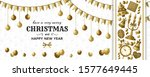 merry christmas background and... | Shutterstock .eps vector #1577649445