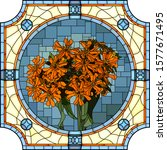 vector mosaic with of blooming... | Shutterstock .eps vector #1577671495