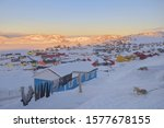 Colorful houses in Tasiilaq Town in Greenland
