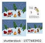 find 7 differences. educational ... | Shutterstock .eps vector #1577683402