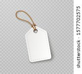tag with rope isolated on... | Shutterstock .eps vector #1577702575