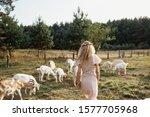 Girl On A Goat Farm