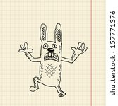 Funny Rabbit Sketch For Your...
