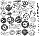 venice italy stamp. vector art... | Shutterstock .eps vector #1577716978