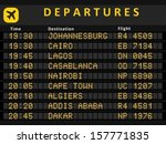 departure board   destination... | Shutterstock .eps vector #157771835
