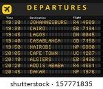 departure board   destination... | Shutterstock .eps vector #157771835