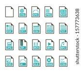 file icon   color | Shutterstock .eps vector #157773638