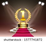 stage cup with lighting  stage...   Shutterstock .eps vector #1577741872