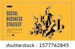 social business strategy... | Shutterstock .eps vector #1577762845