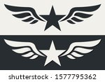 winged military star. army... | Shutterstock .eps vector #1577795362