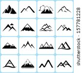 mountain icons set | Shutterstock .eps vector #157781228
