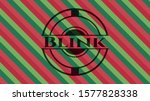 blink christmas emblem. vector... | Shutterstock .eps vector #1577828338