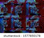 digital effects. vibrant... | Shutterstock . vector #1577850178