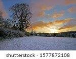 Sunrise And Freshly Fallen Snow ...