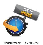 time to upgrade watch...   Shutterstock . vector #157788692