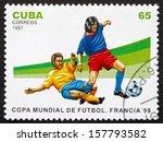 cuba   circa 1997  a stamp... | Shutterstock . vector #157793582