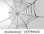 spider web in perspective | Shutterstock .eps vector #157794425
