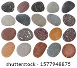 Colorful Pebbles Isolated On...
