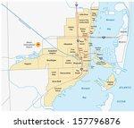 miami administrative map | Shutterstock .eps vector #157796876